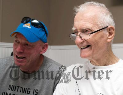 Rick Cooke and Mr. Kelley enjoy a laugh