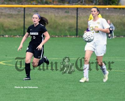 Kayla Ward of Wilmington chases the ball