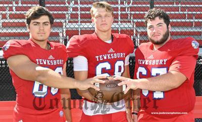 Tri-captains of the 2021 TMHS Varsity Football team