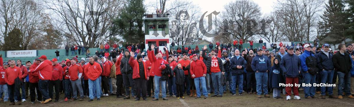 Former Tewksbury and Wilmington football players say good-bye to Doucette Field
