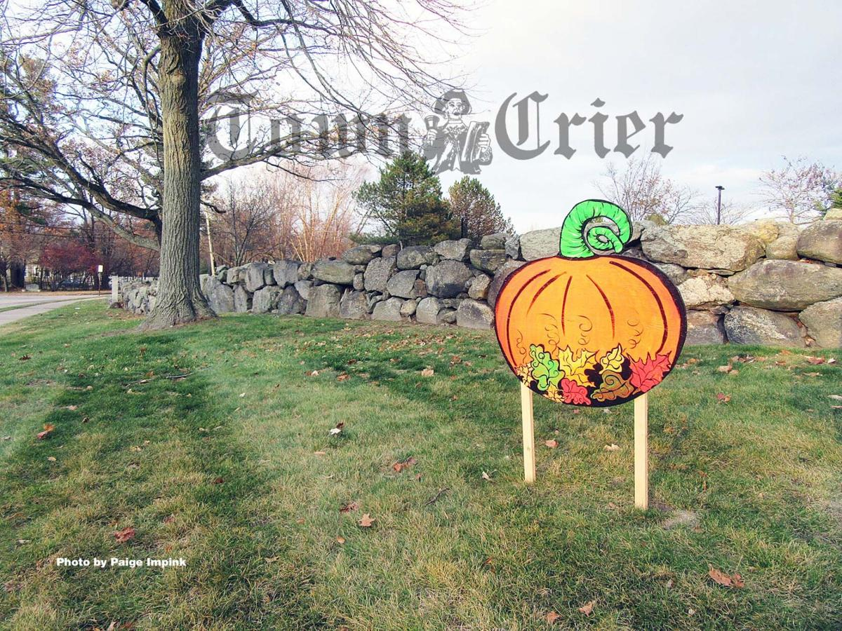 Hand-crafted pumpkin, turkey, and cornucopia signs as part of the first ever Gratitude Scavenger Hunt