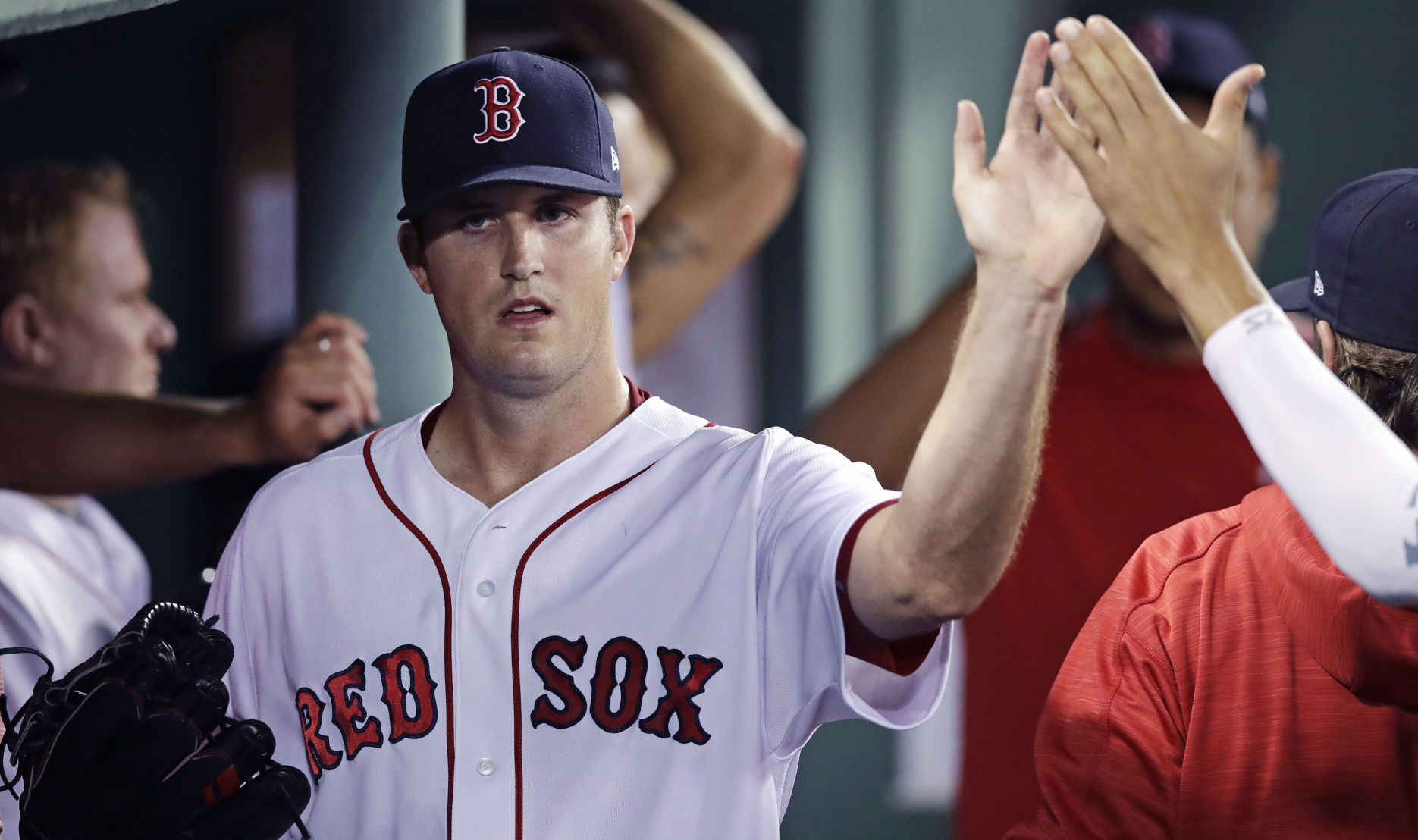 Pomeranz, Pedroia strong in Boston's 5-1 win over Blue Jays