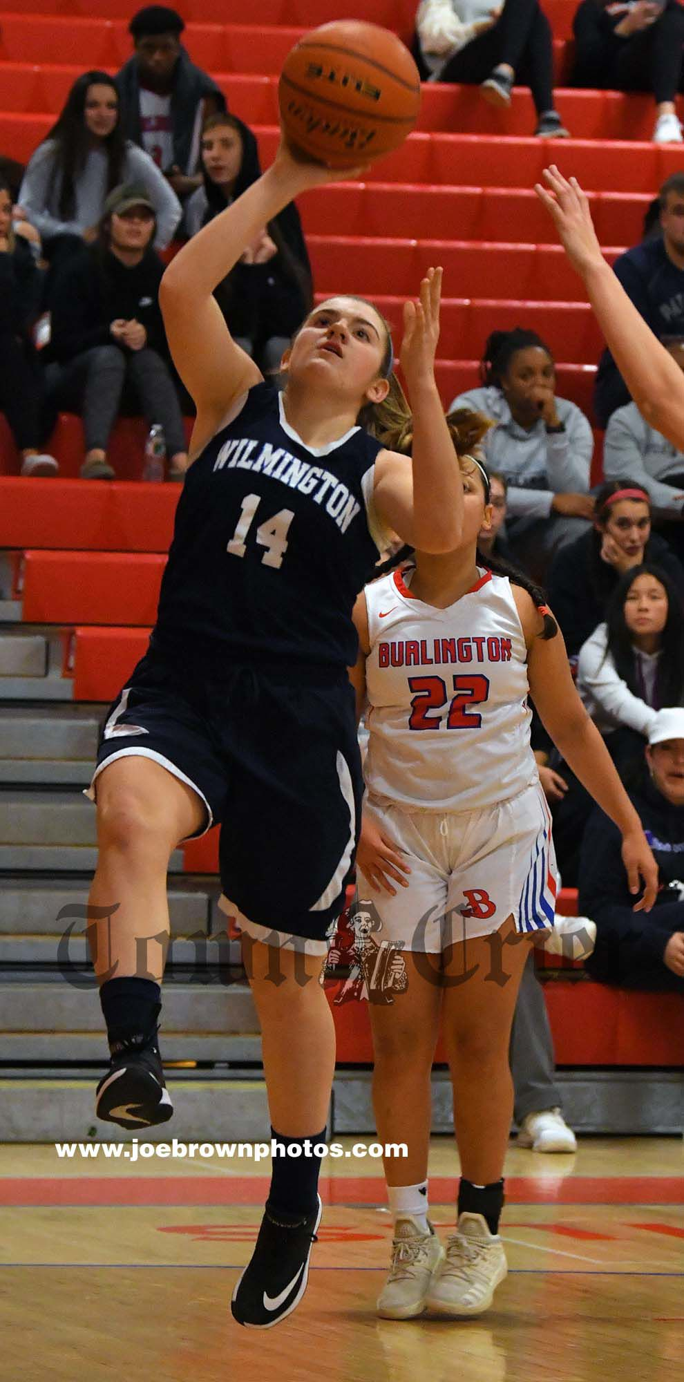 Wilmington High junior Jenna Sweeney makes a lay-up