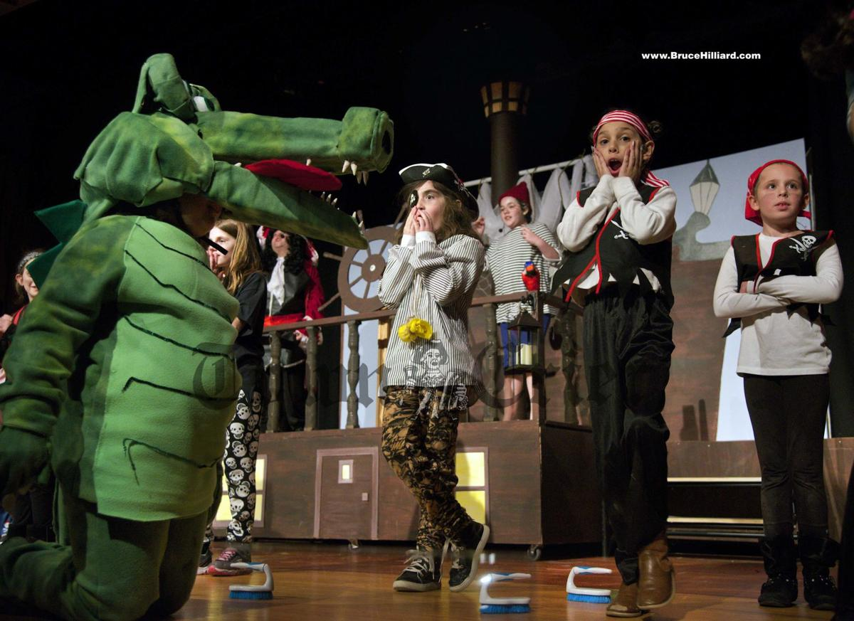 Isabella Robson as the crocodile