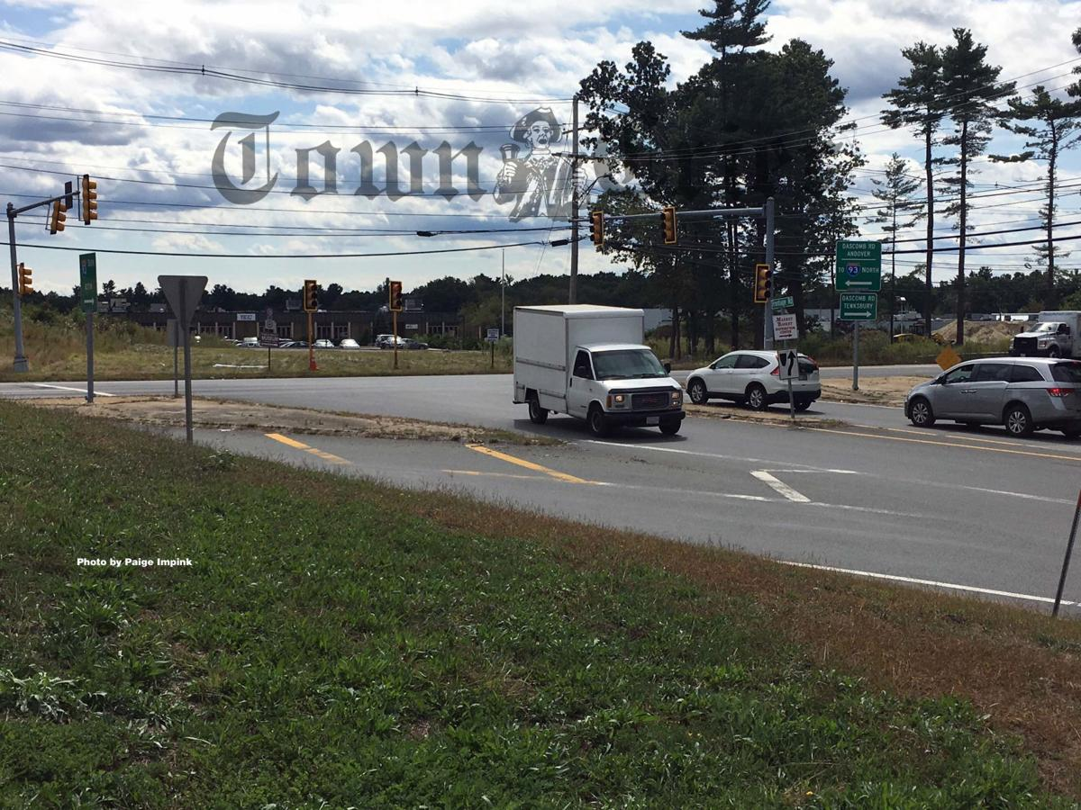 Intersection at Frontage and Dascomb Roads