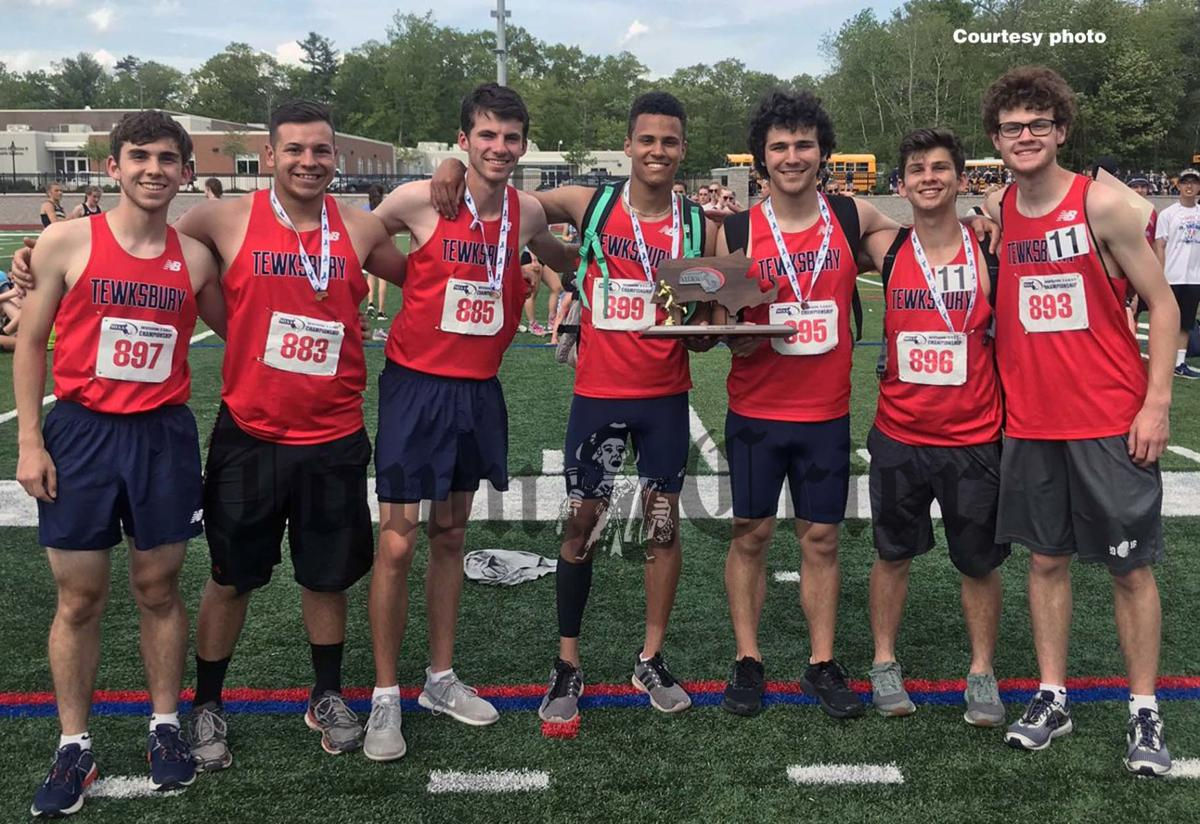 The captains of the TMHS Boys Outdoor Track-and-Field team celebrate