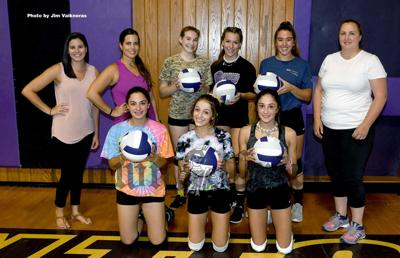 Local players on the Shawsheen Tech Varsity Volleyball team