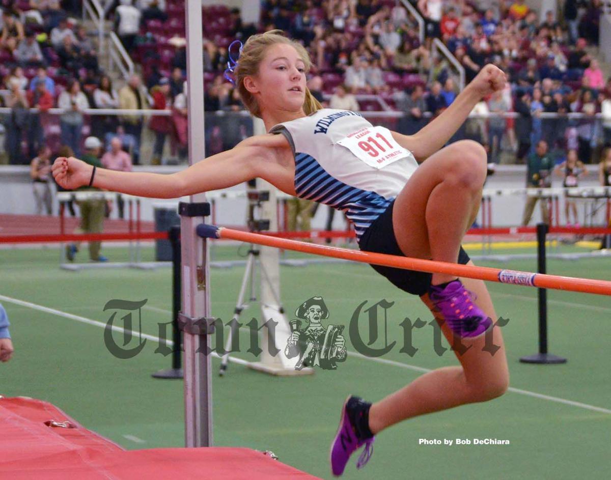 Wilmington's Anja Jensen in the high jump