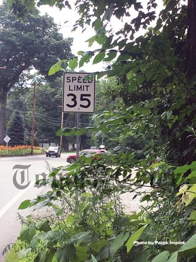 The 35 MPH speed zone near Long Pond on Whipple Road