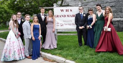 Members of Wakefield High School Class of 2019, prom dates and friends