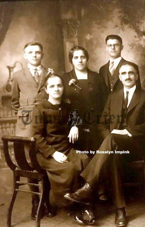 Writer's great-grandfather Oscar, pictured with his family