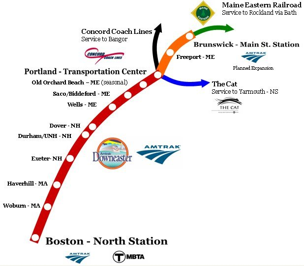 Amtrak Maine Map.Downeaster Expands Service North Middlesex East Homenewshere Com