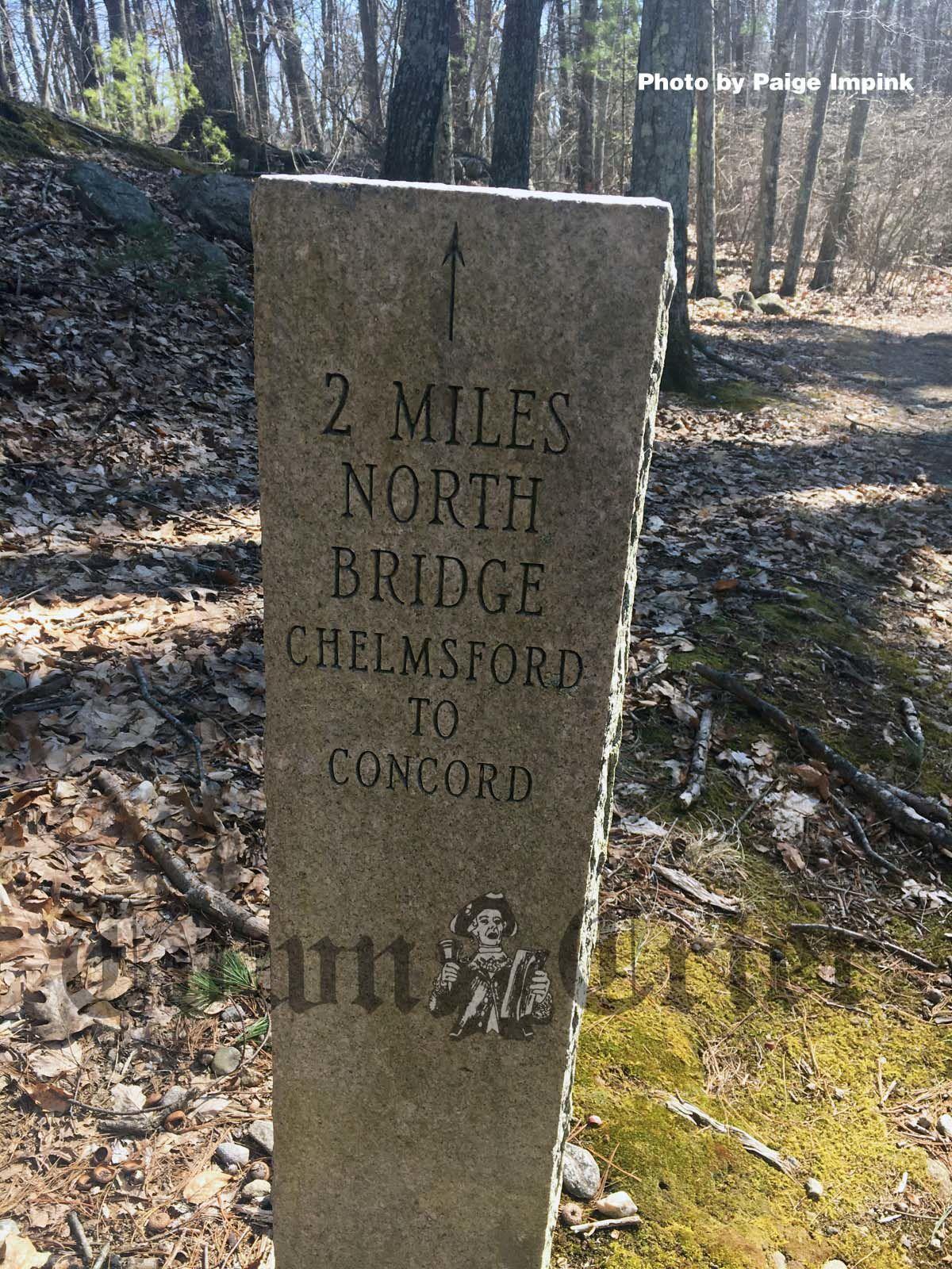 Granite marker at Easterbrook Woods