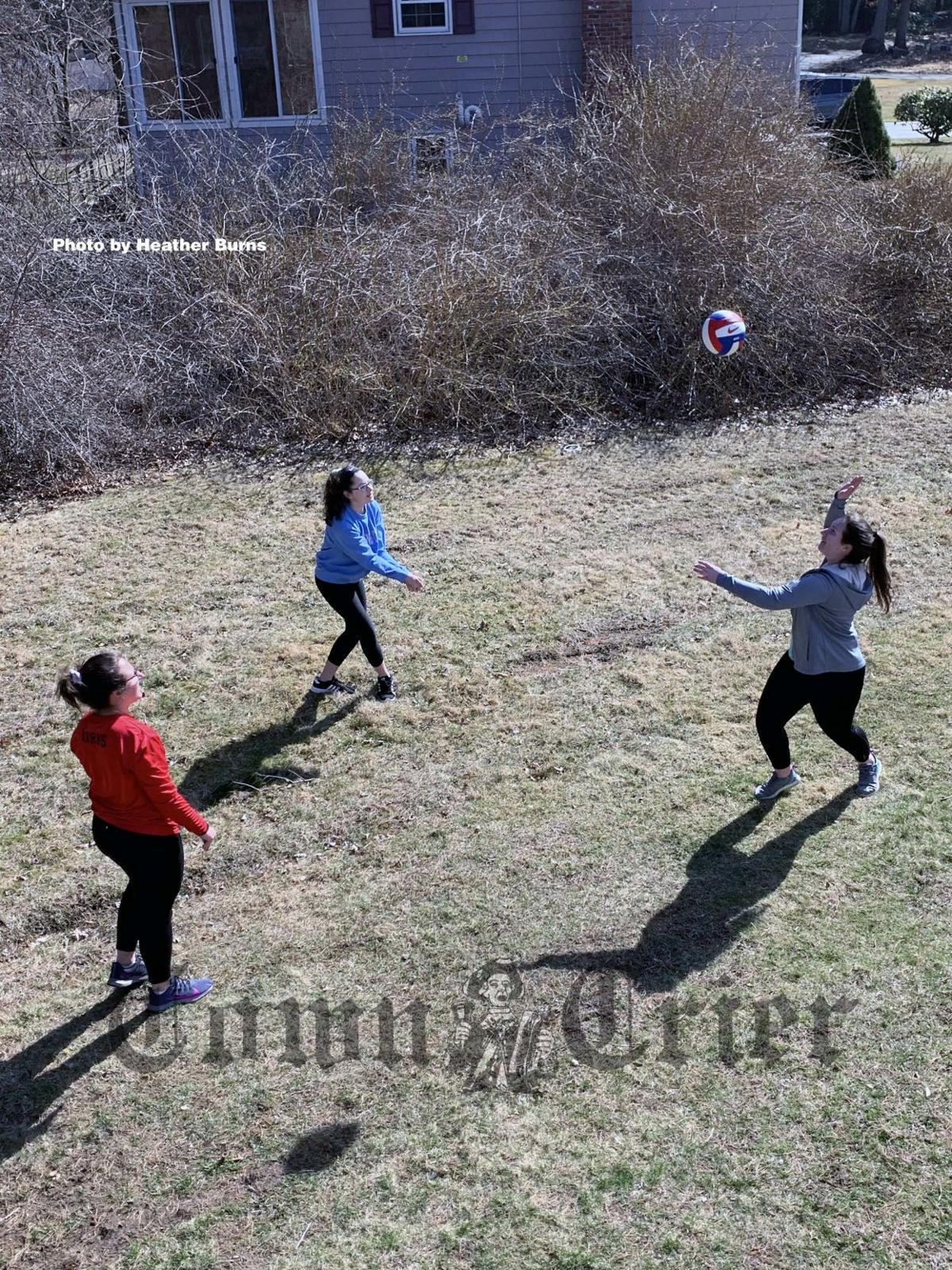 A game of volleyball for exercise