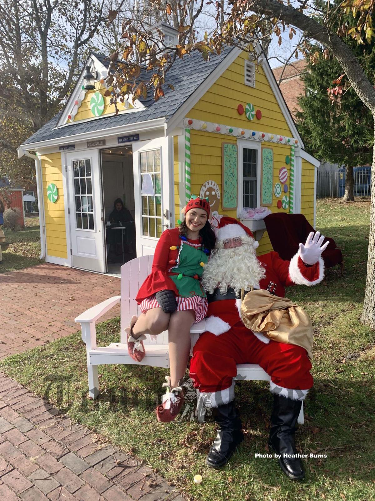 Santa at the Art Shanties