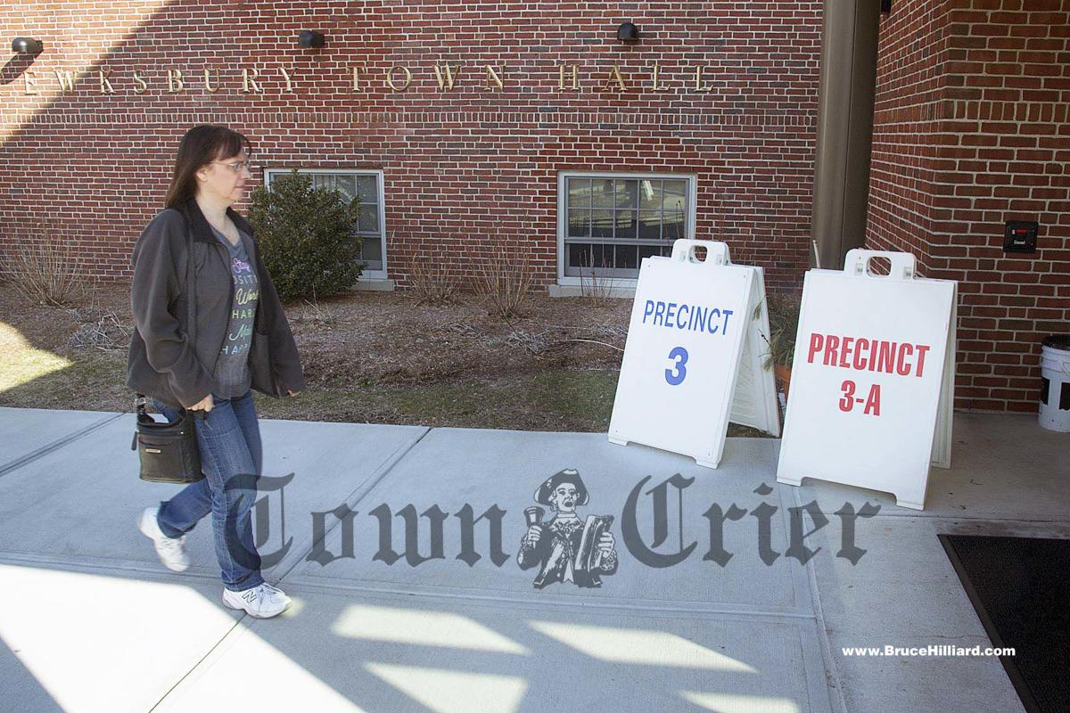 A Tewksbury resident goes to vote