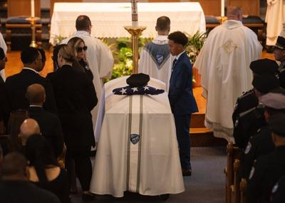 Officer and Teen Drown-Funeral