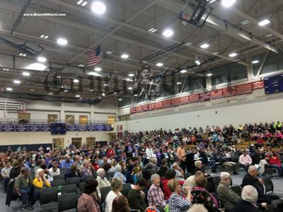 More than 800 residents packed into the TMHS gymnasium at annual Town Meeting