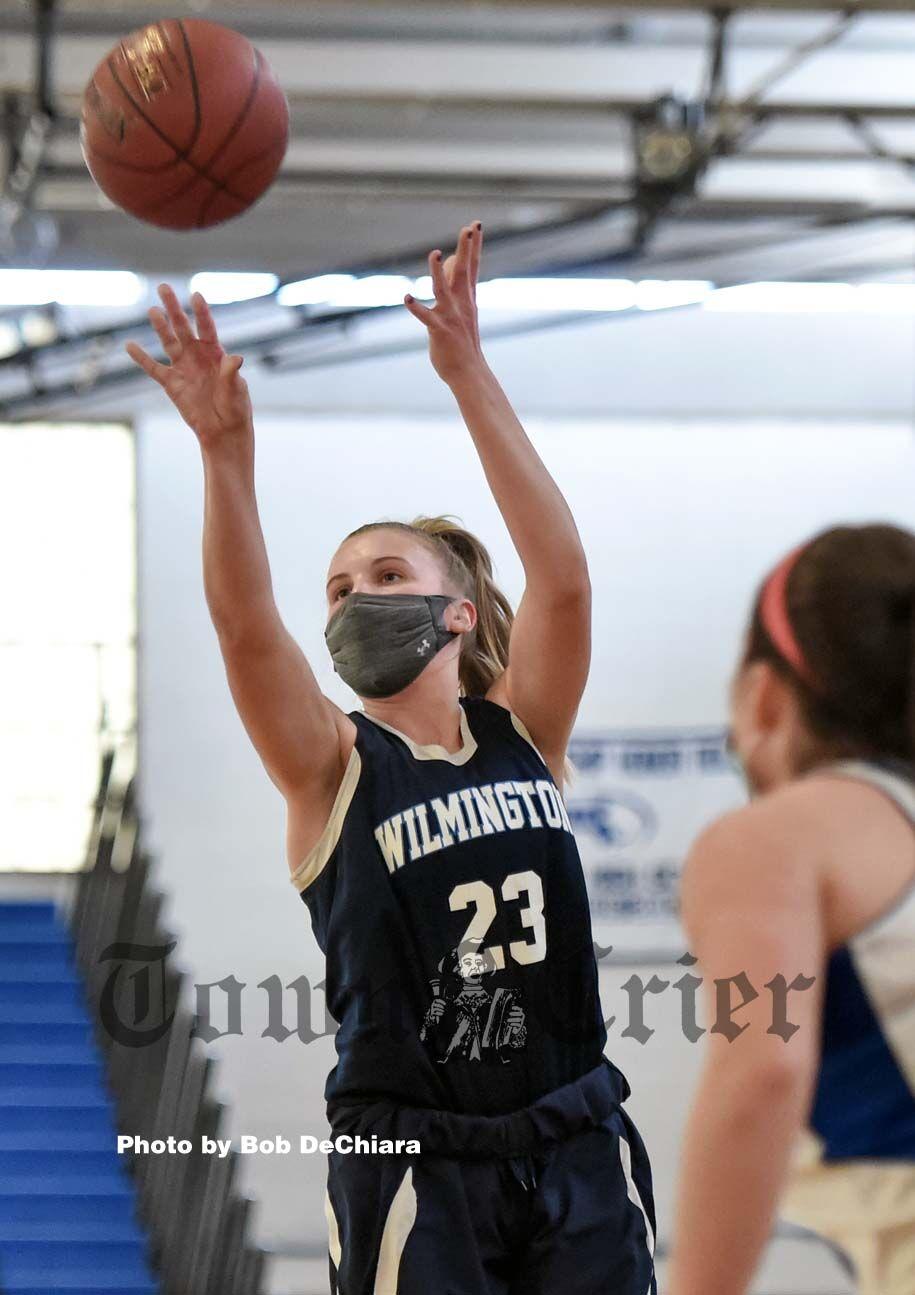 Wilmington High senior Kylie DuCharme lets a shot