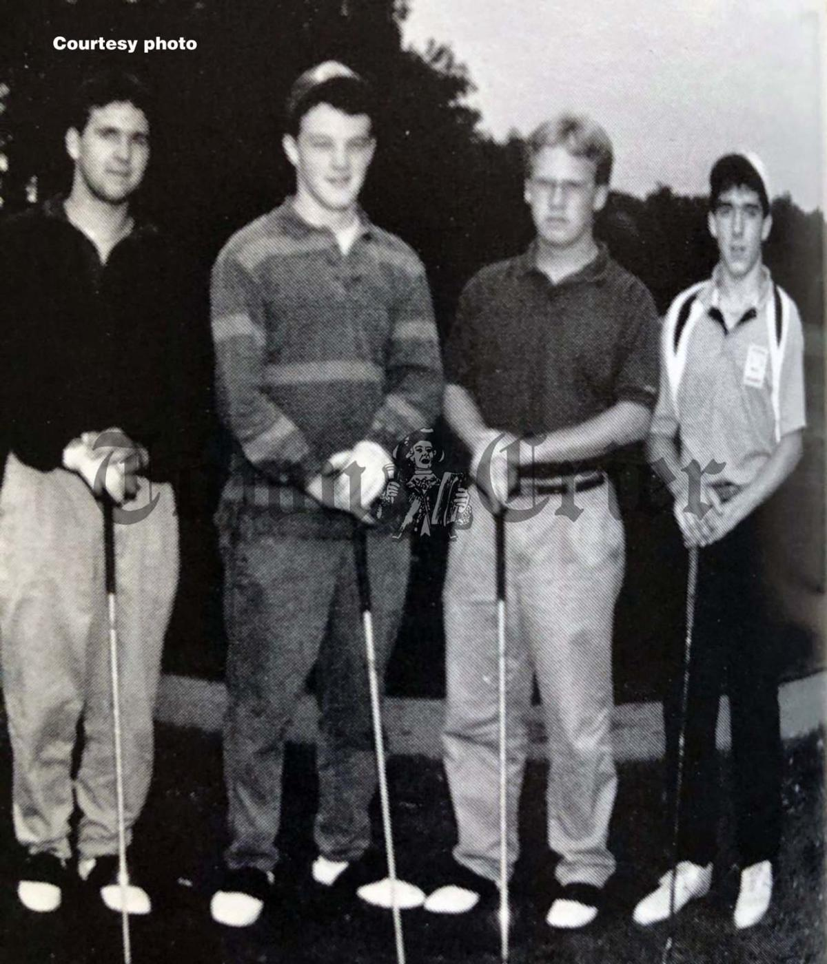 The senior members of the 1990 TMHS Golf team