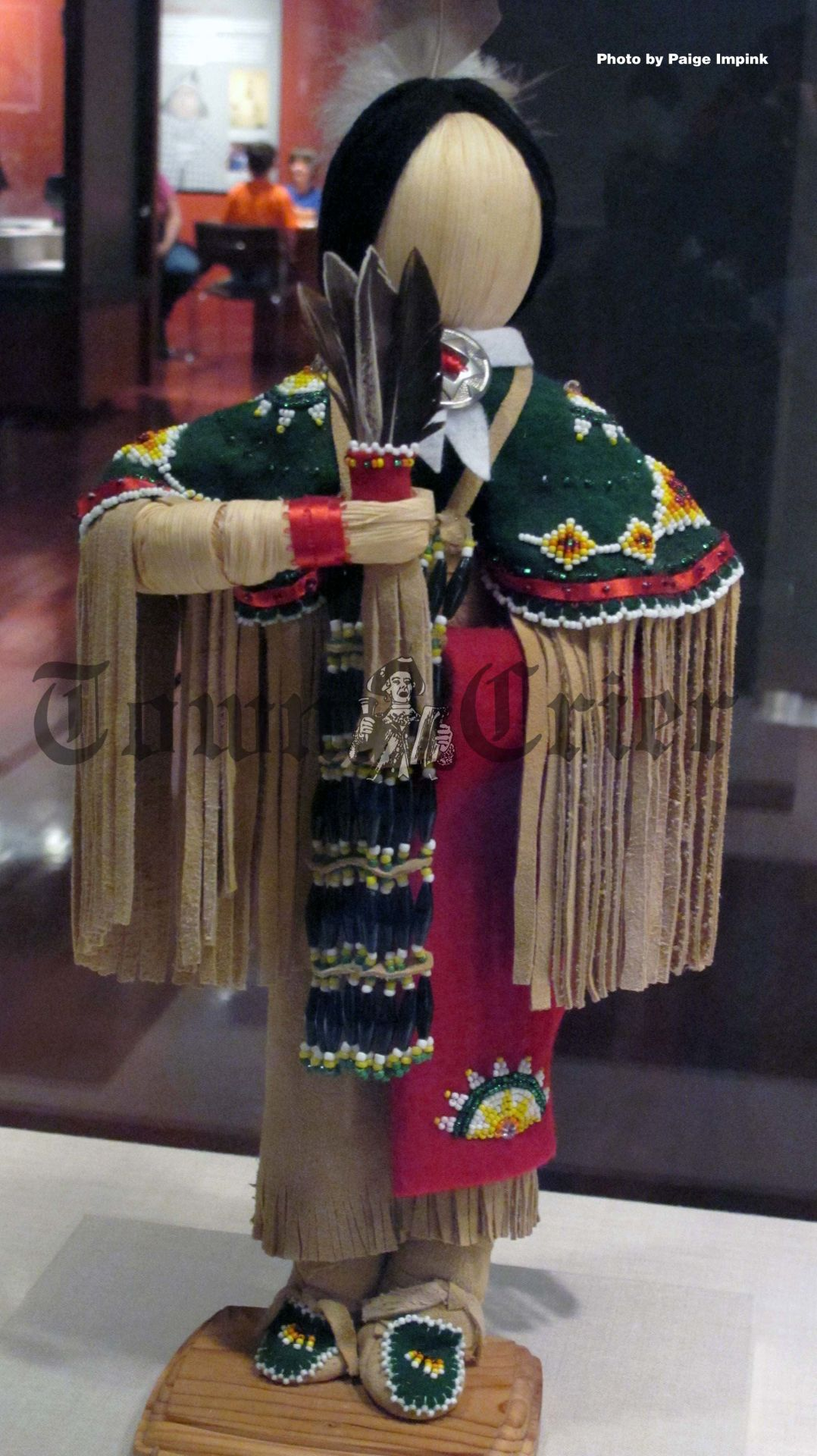 A Native American doll exhibit