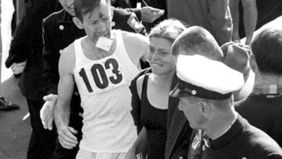 First woman to run the marathon
