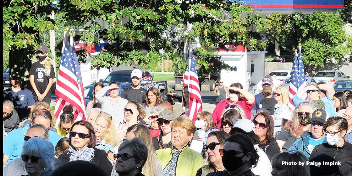 Over 100 people attended the Sept. 11 memorial ceremony
