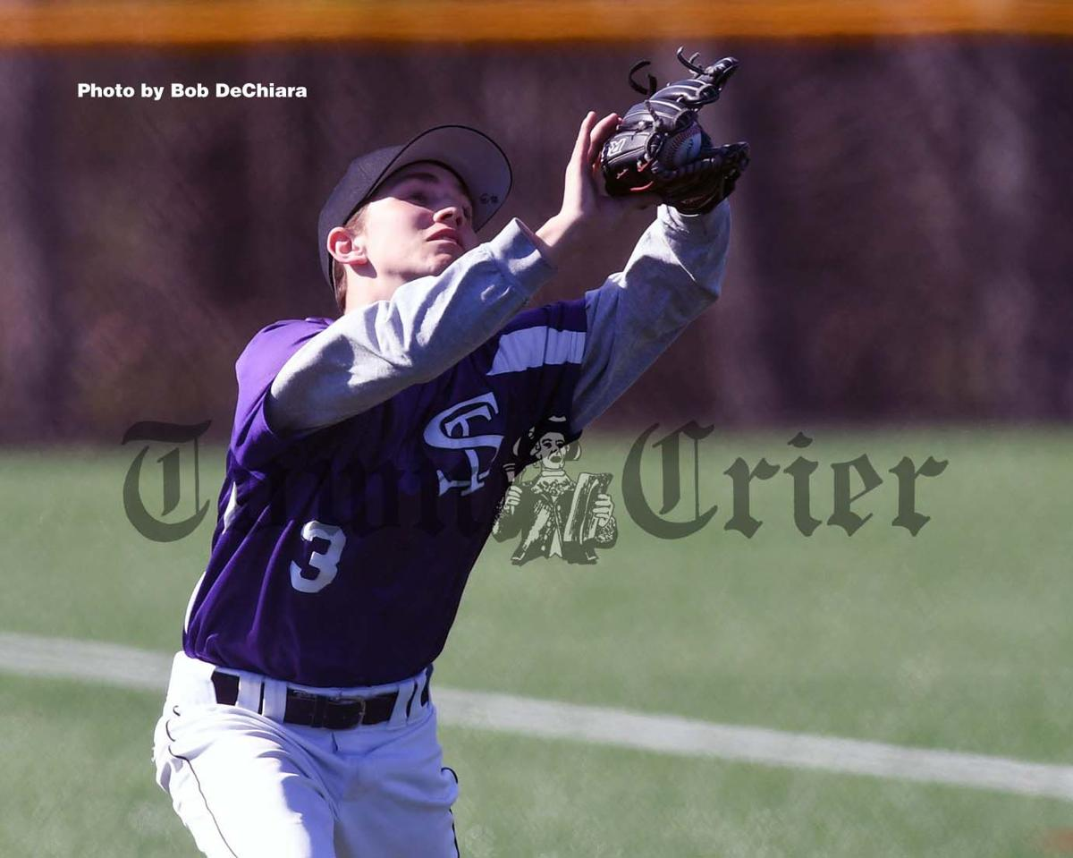 Kyle Imbody makes a catch for Shawsheen