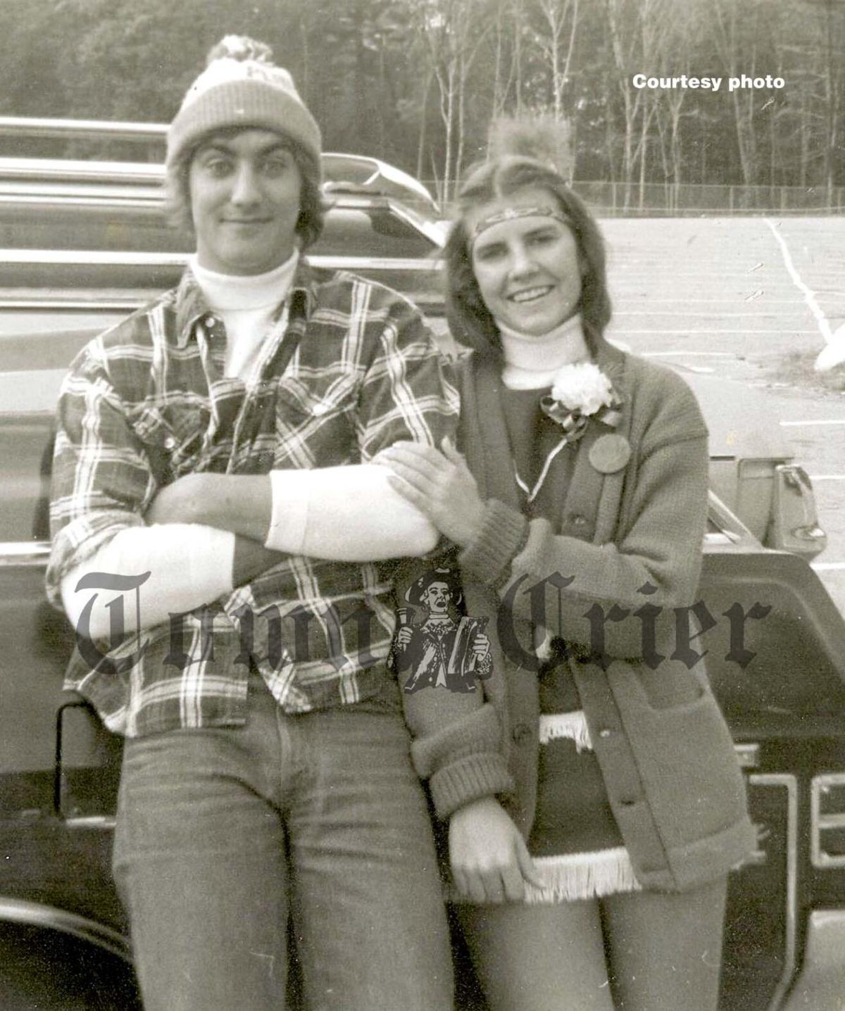 Mark and Diane as high school sweethearts at Tewksbury High School