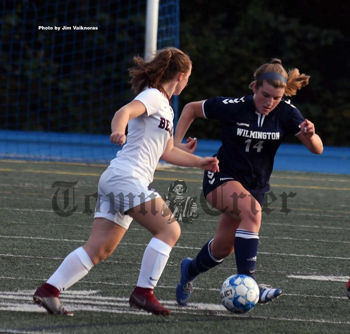 Jenna Sweeney tries to advance the ball