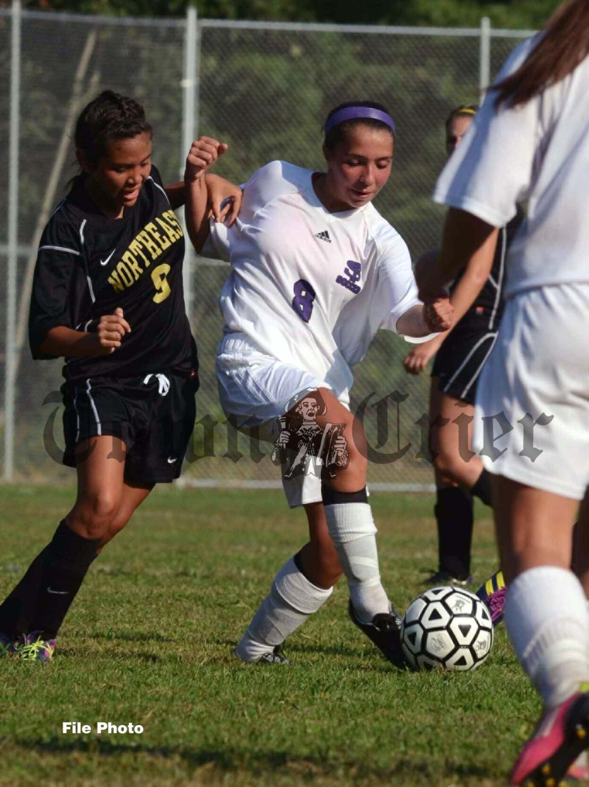 Nicole Malfa of All-Decade Shawsheen Tech girls' soccer team