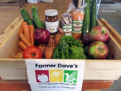 An array of items available at Farmer Dave's which qualify for HIP