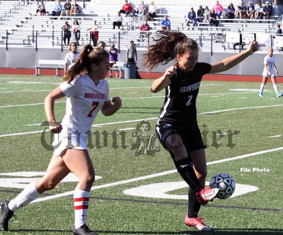 Amanda Howell in action for the Shawsheen Tech Girls' Soccer team
