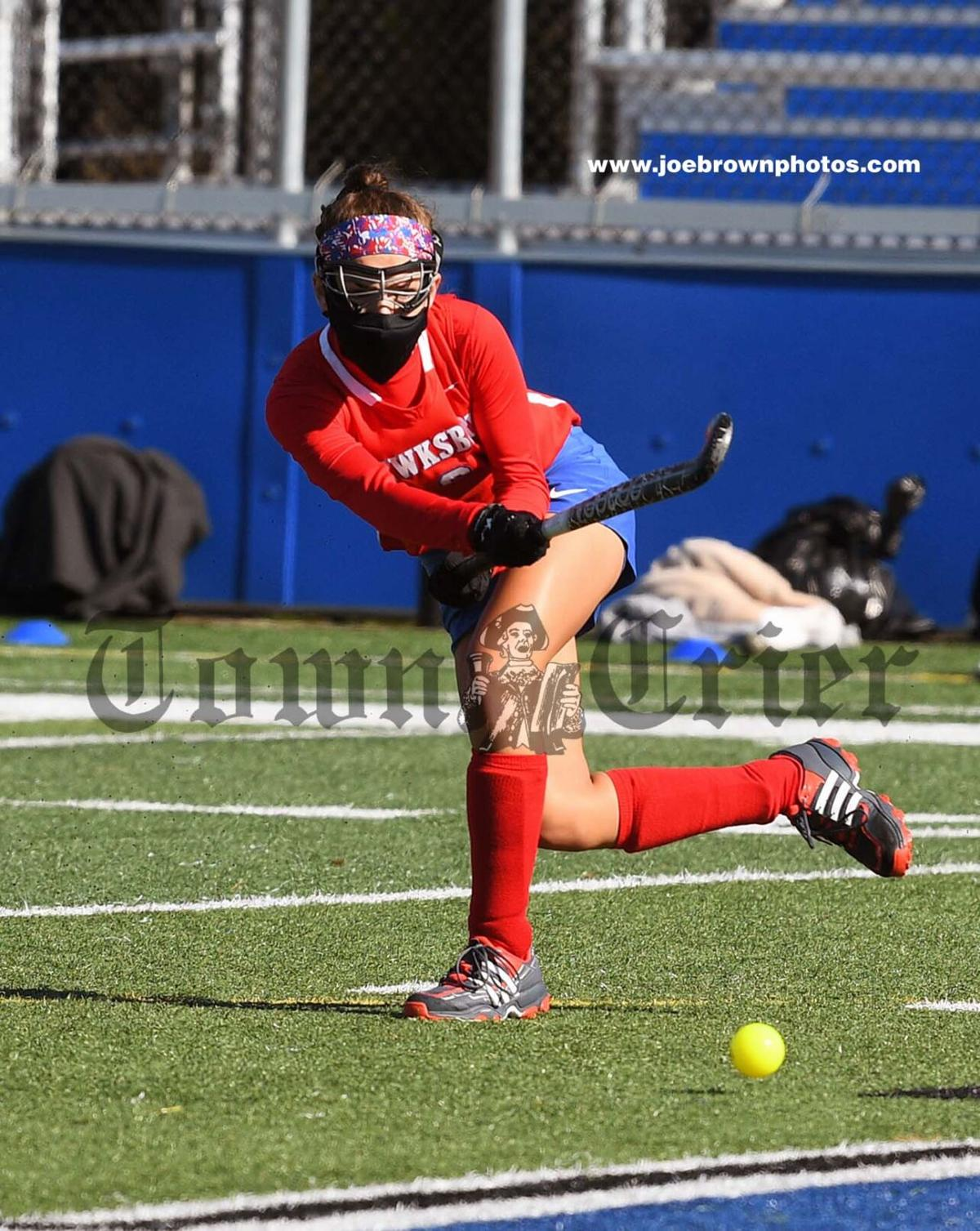 TMHS' Alexis Raymond lets a shot fly off of her stick