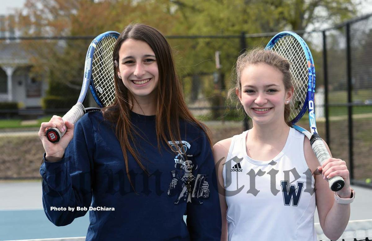 Sisters Jessica and Lauren D'Arco for the WHS Girls' Tennis team
