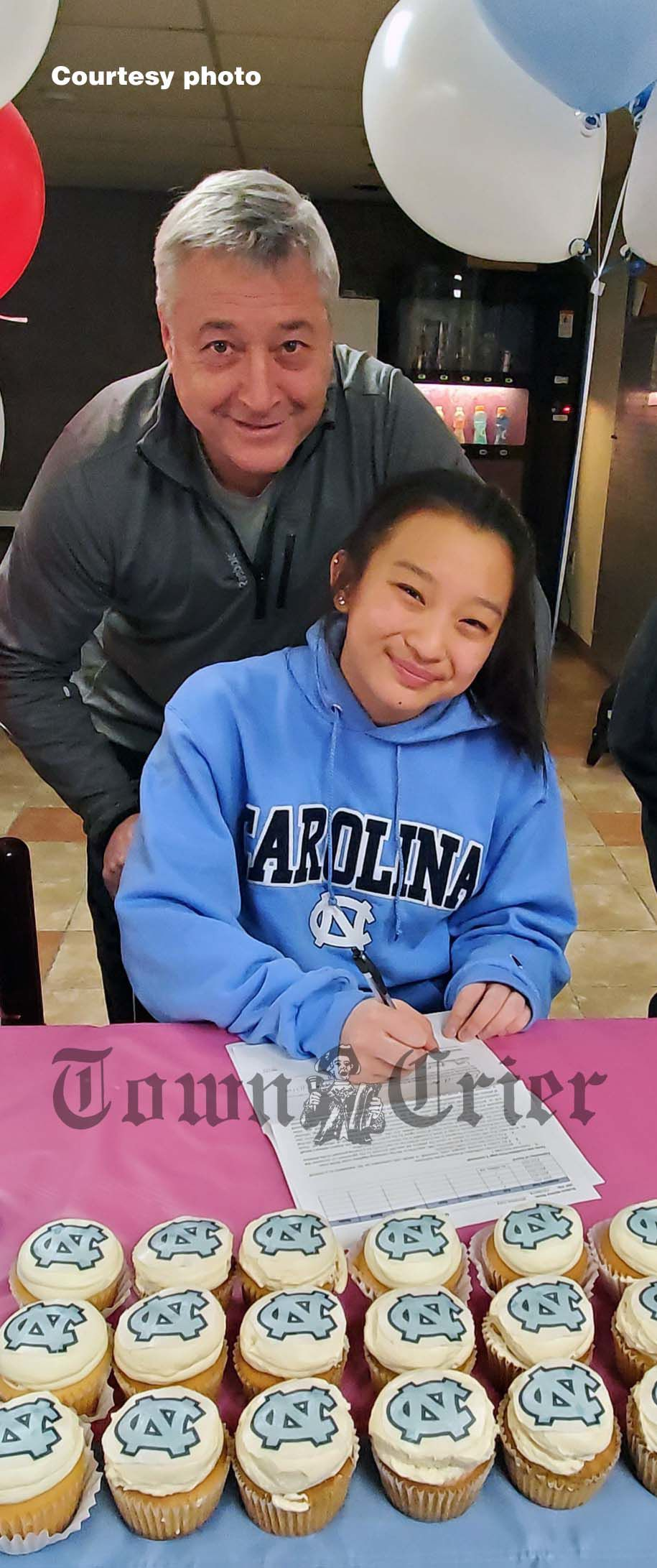 Cory Shinohara signs her National Letter of Intent