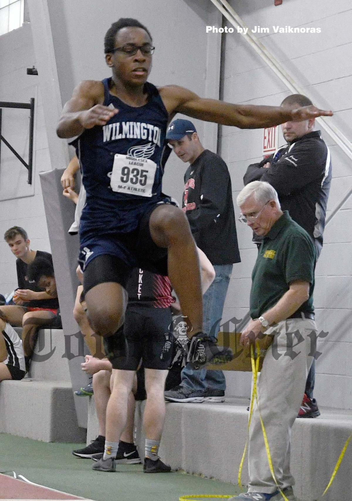 Wilmington's Jeandre Abel competes in the long jump