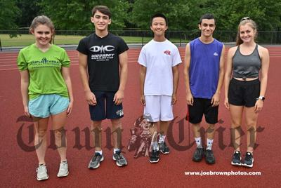 The captains of the Shawsheen Tech Girls and Boys Cross-Country teams