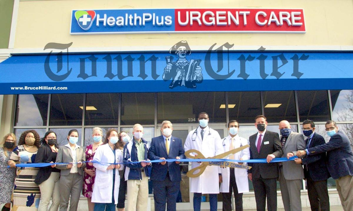 Local dignitaries at the opening of HealthPlus Urgent Care in Wilmington