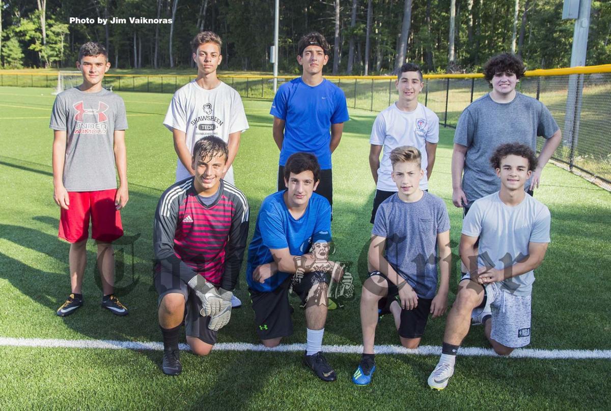 Tewksbury members of 2019 Shawsheen Tech Boys Varsity Soccer team