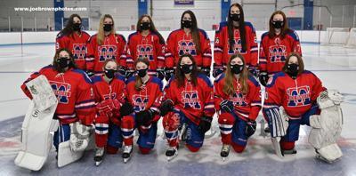 The Tewksbury/Methuen co-op girls hockey team