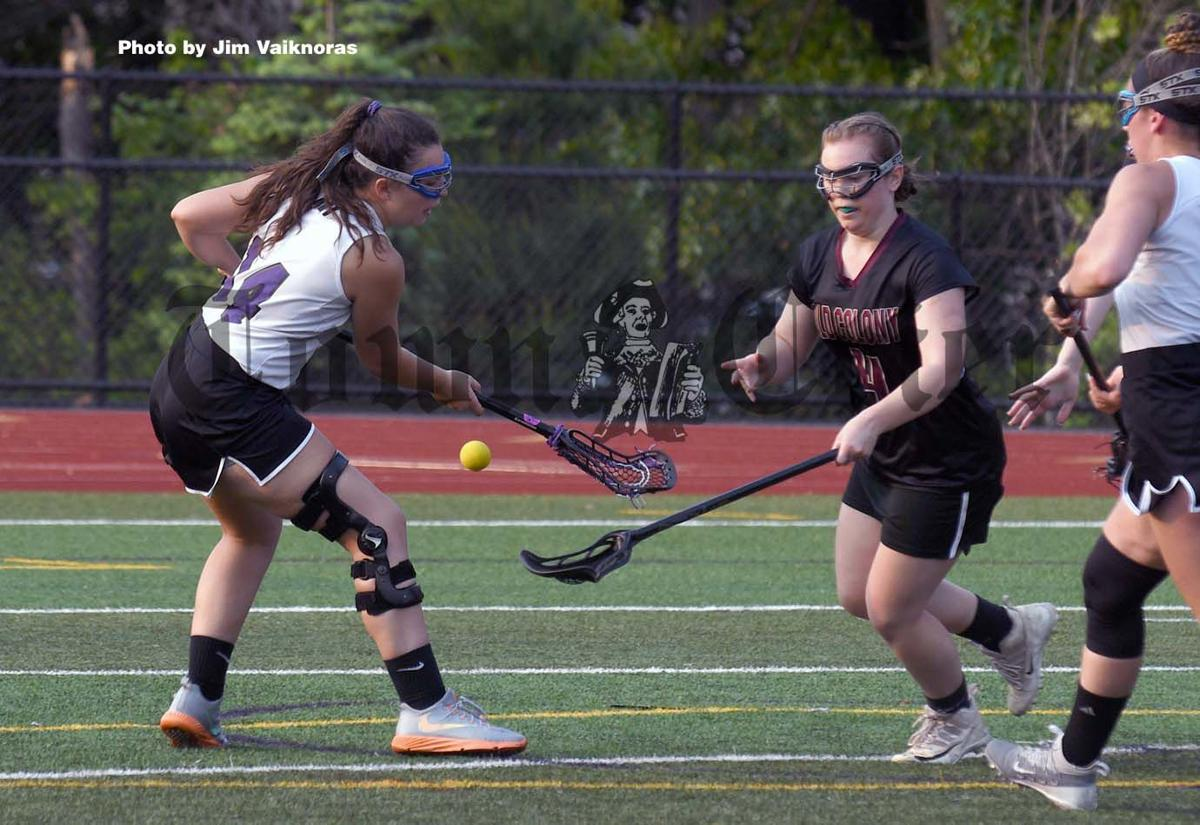 Shawsheen's Amanda Howell fights for a ball