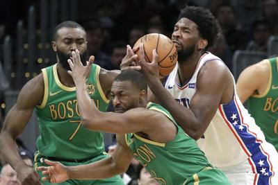 APTOPIX 76ers Celtics Basketball