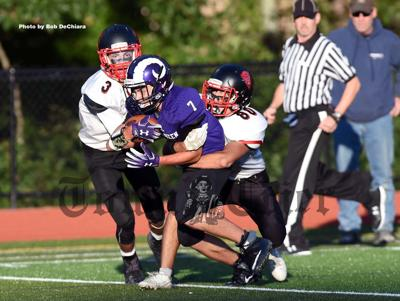 Shawsheen Tech's Anthony D'Ampolo carries the ball