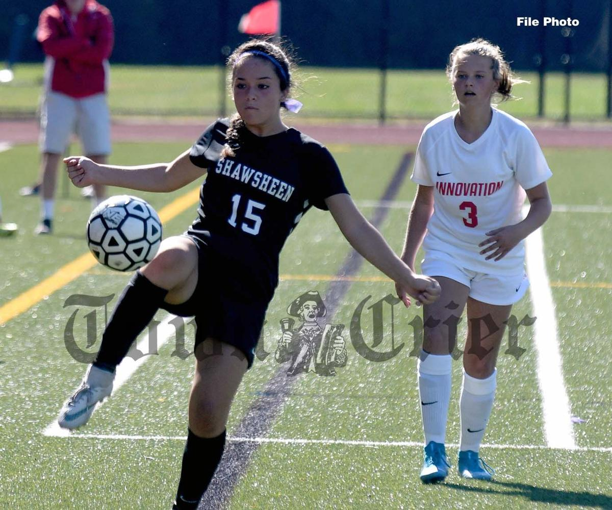 Julia Steed in action for the Shawsheen Tech Girls' Soccer team