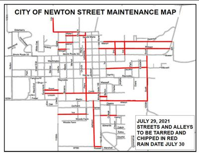 Newton Street Department conducts road repairs