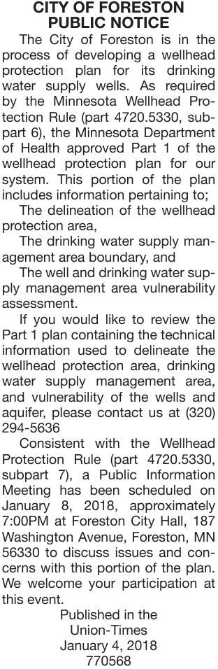 Wellhead Protection Plan