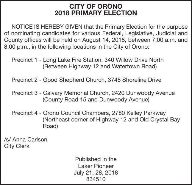 Election Notice   City   hometownsource com