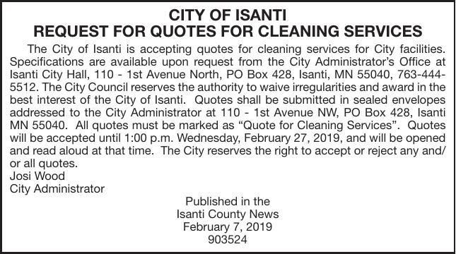 Cleaning Service Quotes | Advertisement For Bids & Proposals