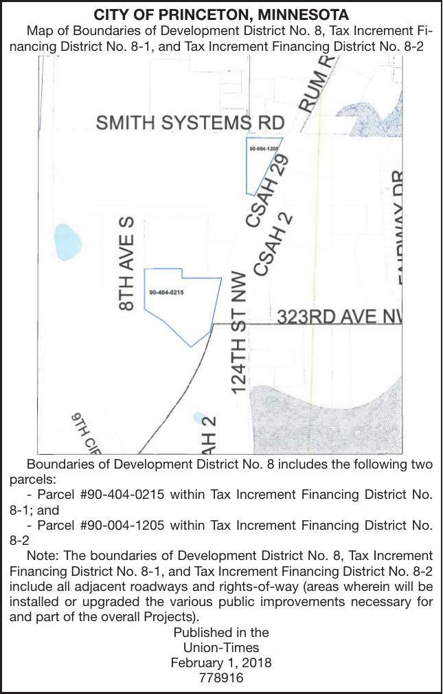 Princeton Minnesota Map.Tif District 8 Hearing Notice Of Public Hearing Hometownsource Com